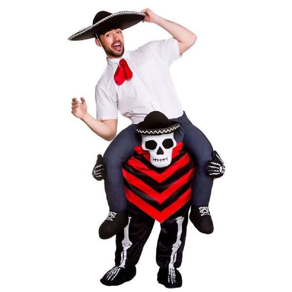 Adults Carry Me - Day Of The Dead Hombre Costume Unisex Fancy Dress
